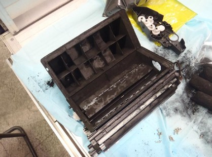Seven kilos of meth hidden in printer cartridges seized